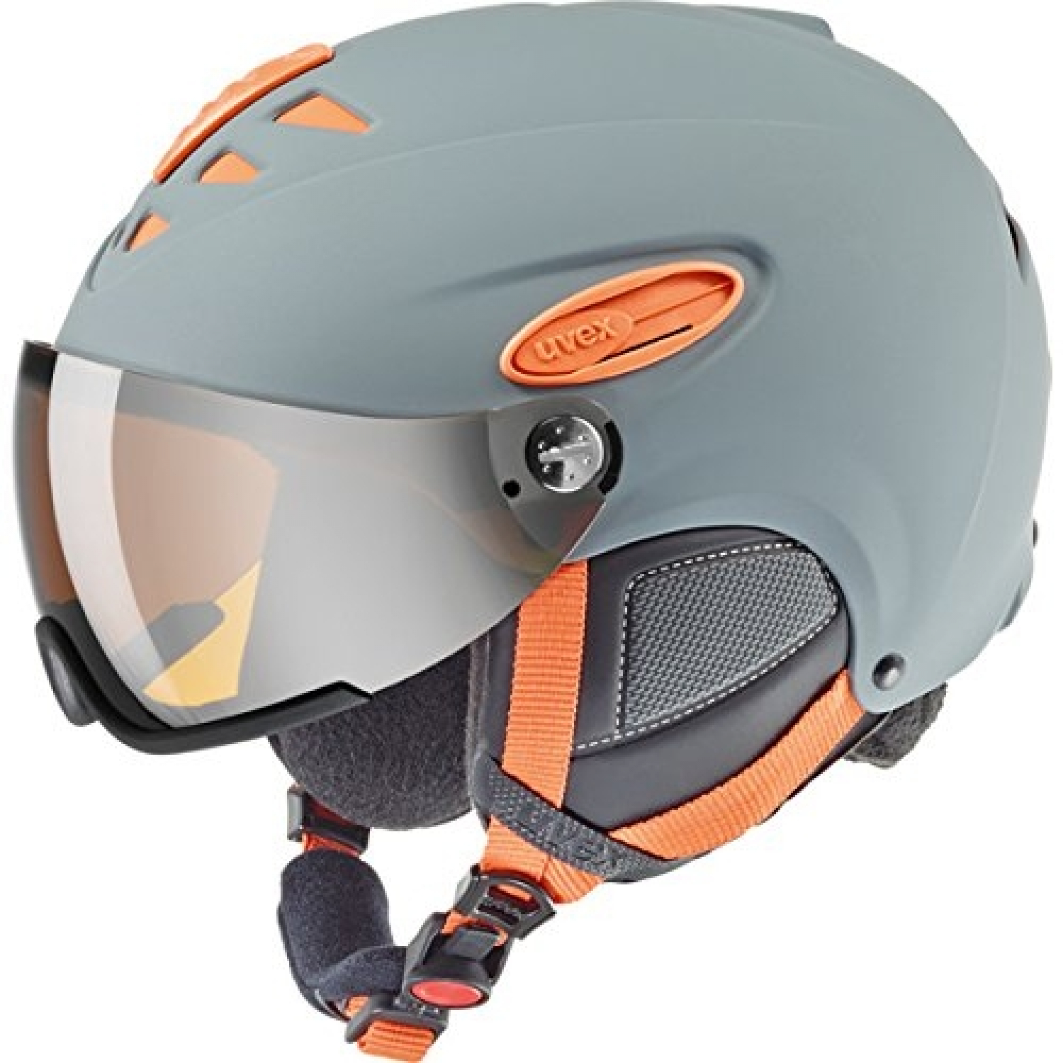 Uvex Hlmt 300 Visior Grey Orange Skihelm 55-58