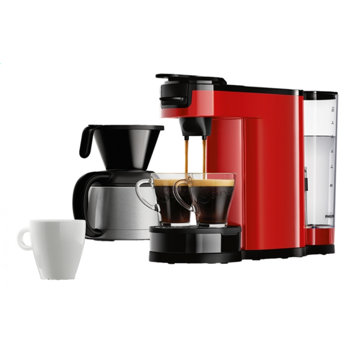 philips hd7892 60 switch red kaffeemaschine f r filter und pads xenudo. Black Bedroom Furniture Sets. Home Design Ideas