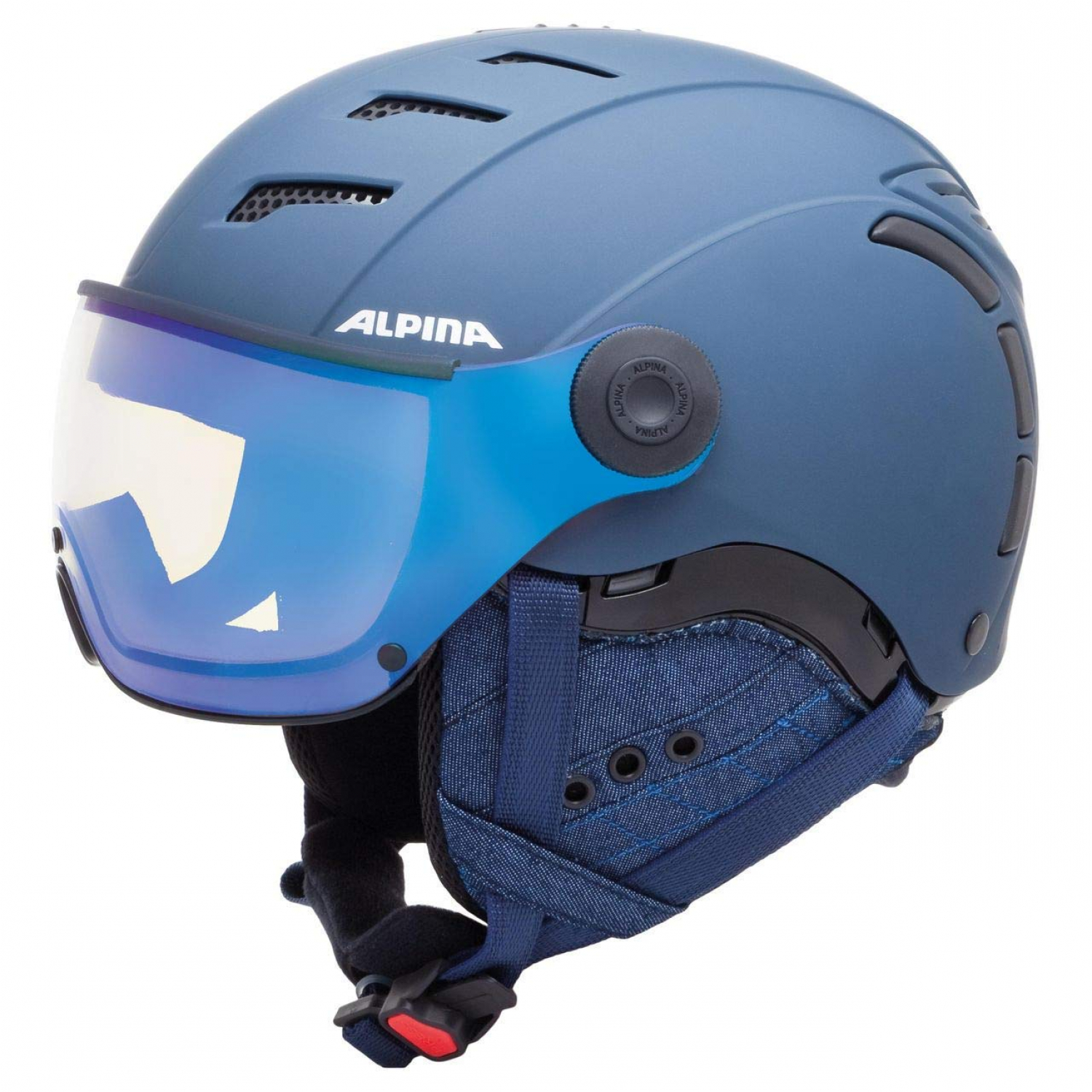 Alpina Jump 2.0 VM nightblue-Denim matt Skihelm 52-54cm