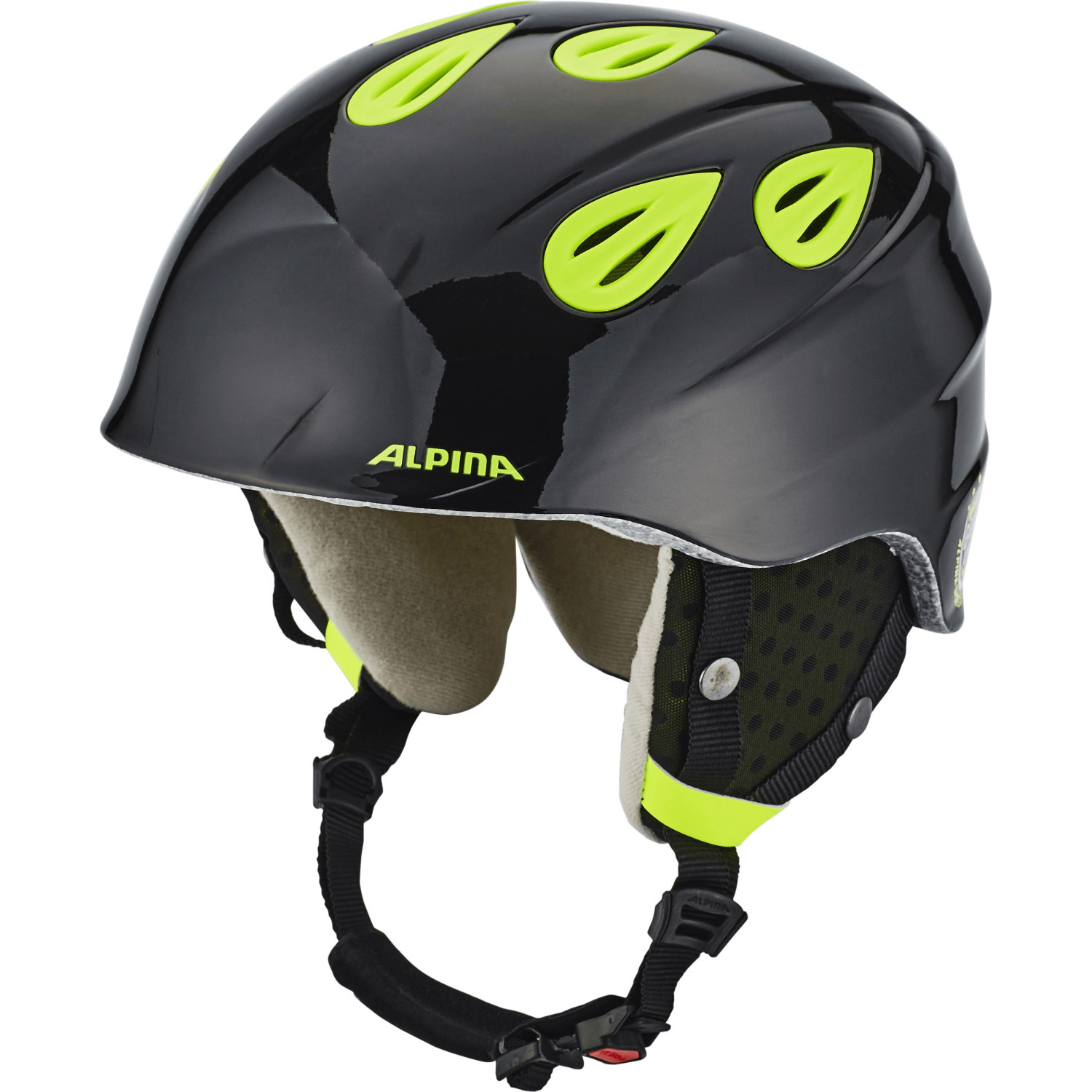 Alpina Grap 2.0 JR black- neon yellow Kinderskihelm 51-54cm