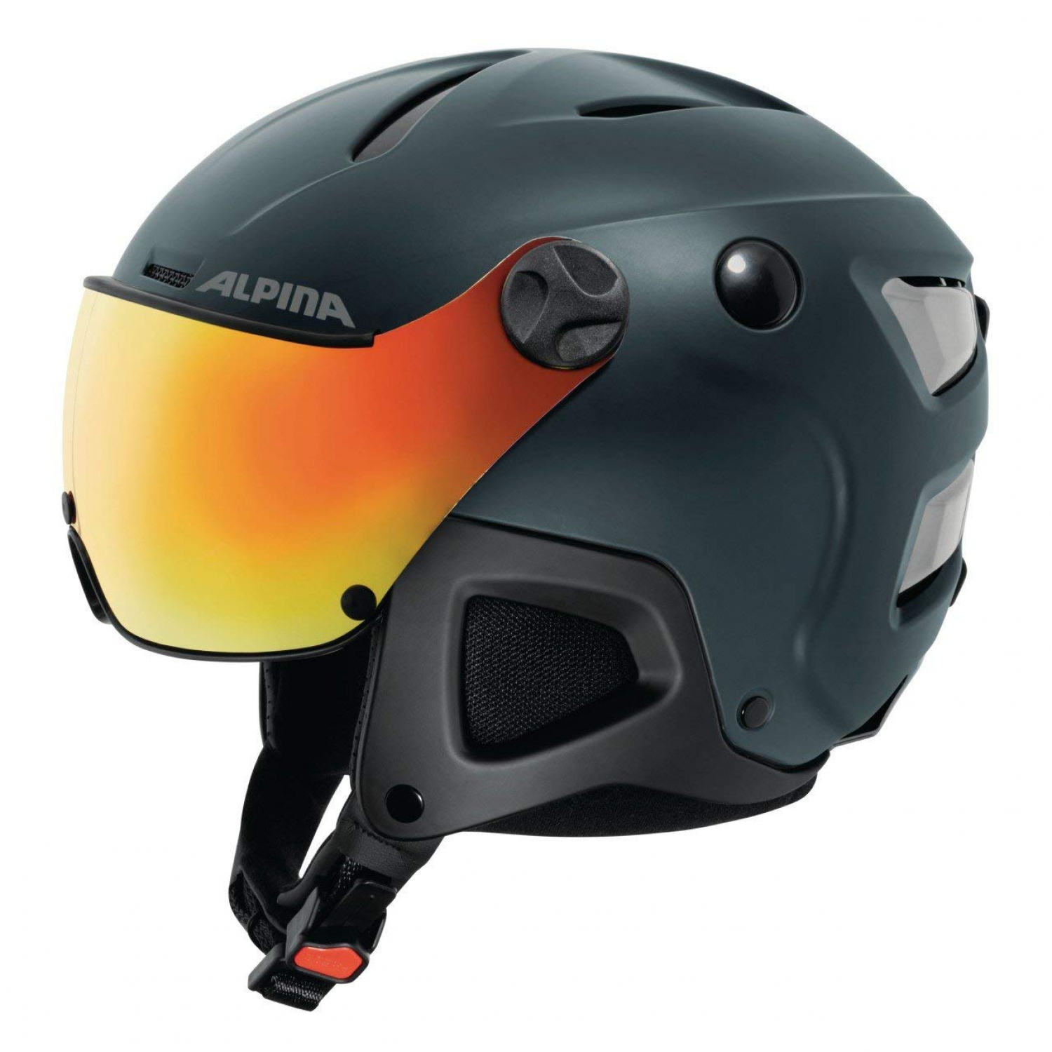 Alpina Attelas Visor QVmm nightblue matt Skihelm 53-58cm