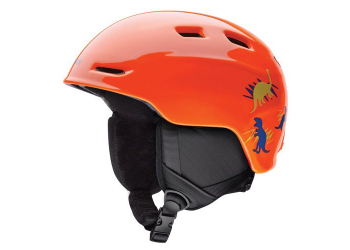 Smith Zoom Jr. neon orange dinos Kinderhelm