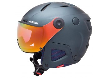 Alpina Attelas Visor QVMM denim grey matt Skihelm