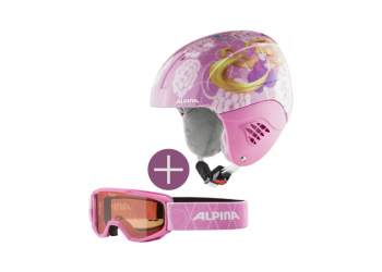 Alpina Carat Set Piney Disney Rapunzel Kinderhelm + Skibrille 51-55cm