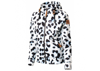 Rehall Catty-R Jr. Kinder Kapuzenjacke, White Leopard, Gr. 116