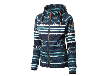 Rehall Catty-R Jr. Kinder Kapuzenjacke, Dotstripes Evening Blue, Gr. 116