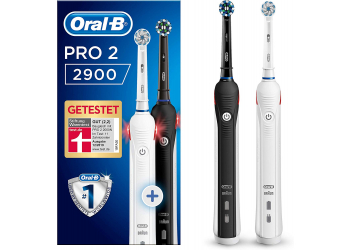 Oral-B Pro 2900 Cross Action incl. 2nd handle black/white Elektrische Zahnbürste
