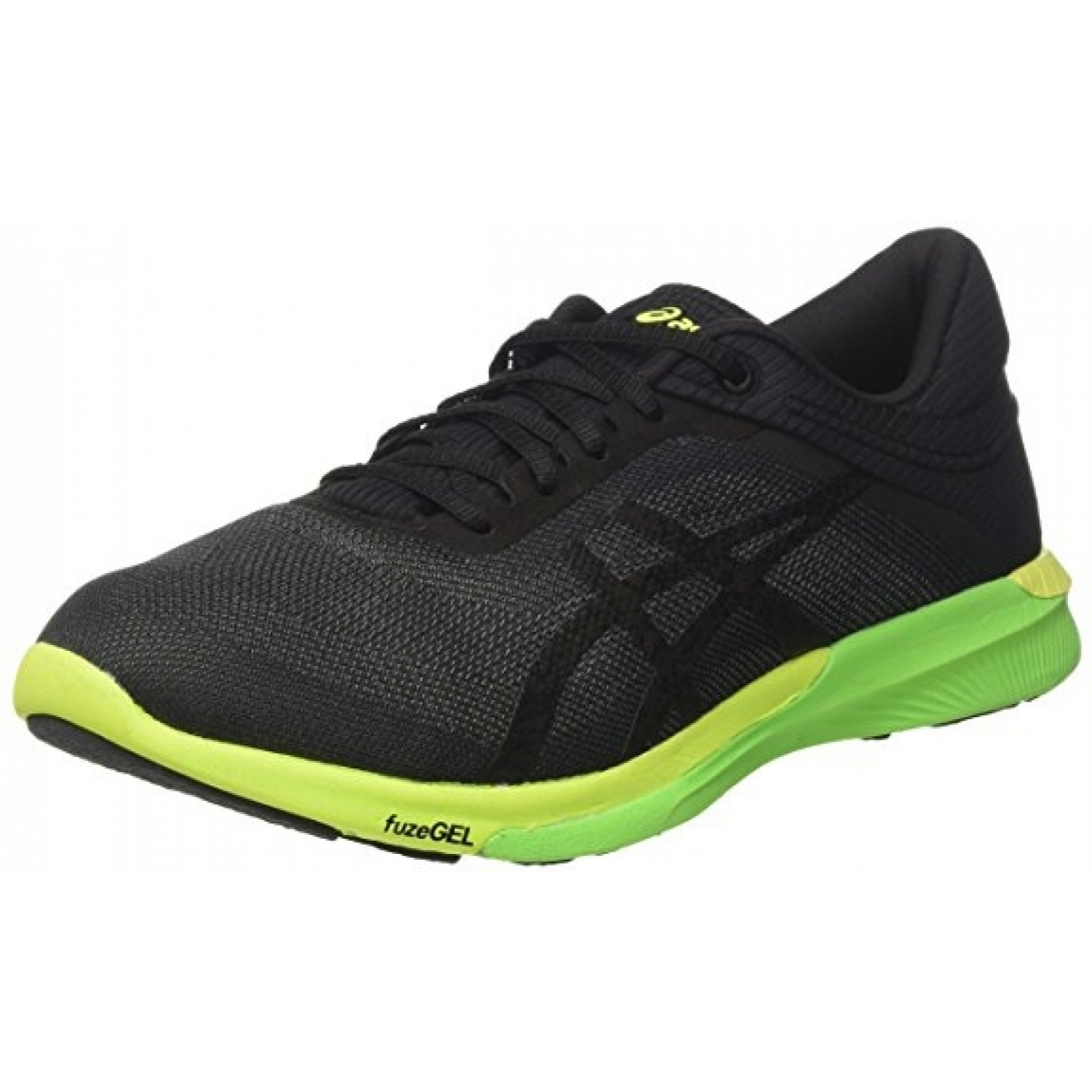 Asics FuzeX Rush Carbon/Black/Safety Yellow Laufschuhe EU Gr. 42 (7,5)
