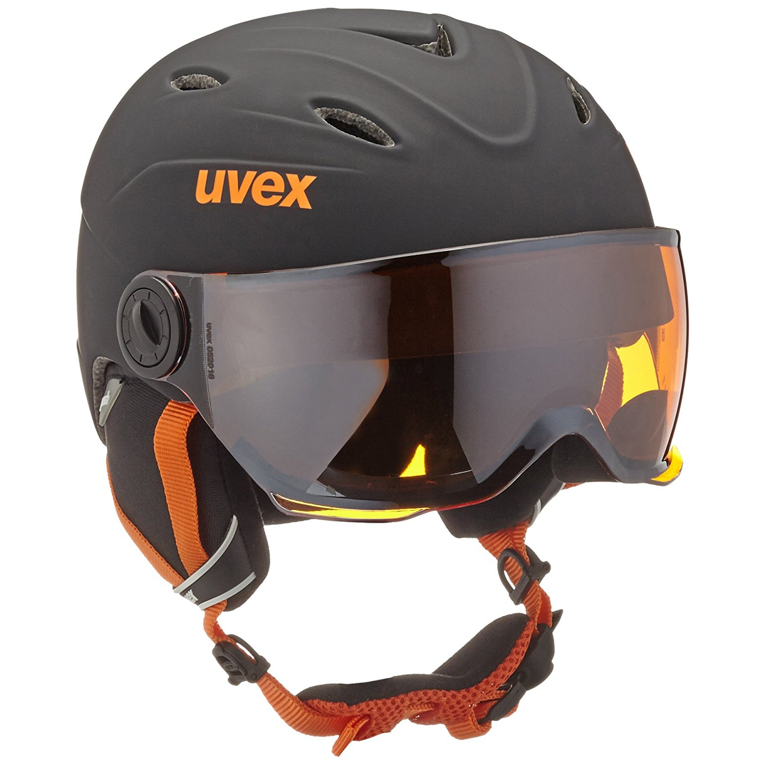 Uvex jun.visor pro bl-orange mat Kinderhelm 52-54cm