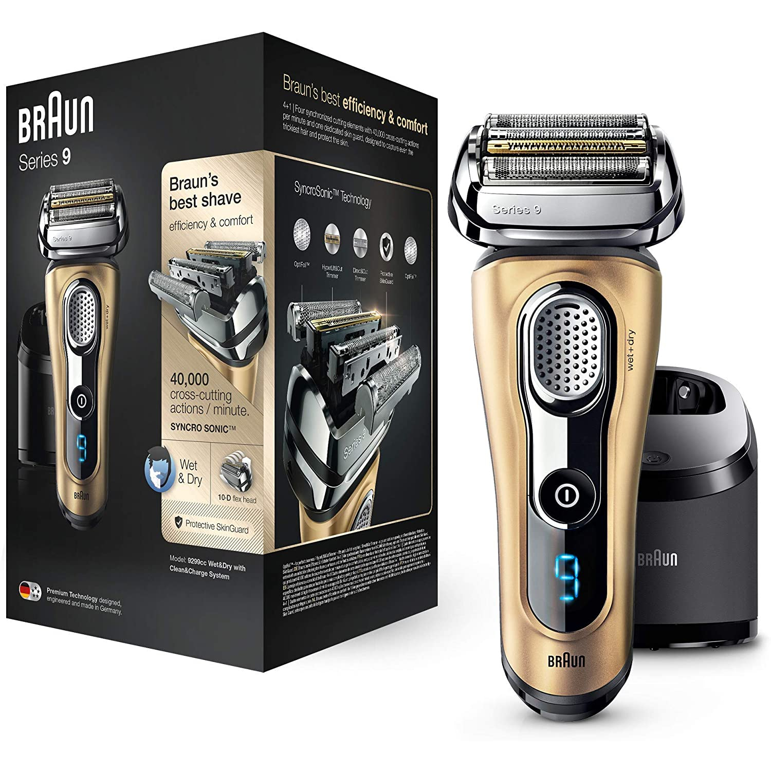 Braun Series 9 9299cc Gold Edition Herrenrasierer