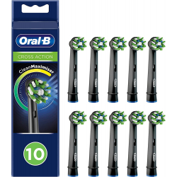 Oral-B Cross Action EB50RB-10 BLACK CleanMaximizer Ersatzbürsten