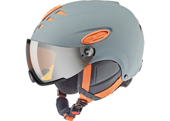 Uvex HLMT 300 Visior Grau/Orange Skihelm