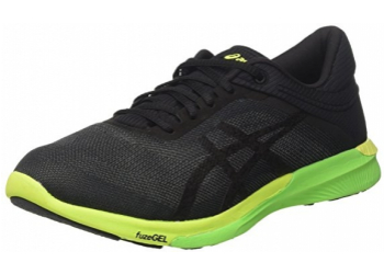 Asics FuzeX Rush Carbon/Clack/Safety Yellow Laufschuhe