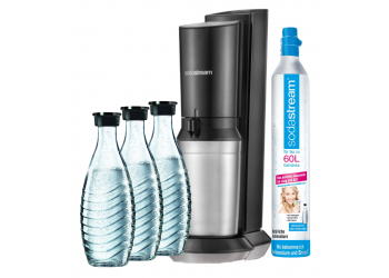 SodaStream Crystal 2.0 Plus inkl. 3 Glaskaraffen 0,6l