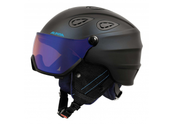 Alpina Grap Visor HM Nightblue denim matt Skihelm 54-57cm