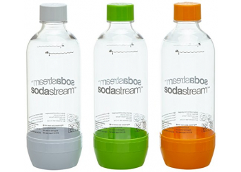 SodaStream PET Flaschen SET 1L 2+1 Orange, Weiß, Grün