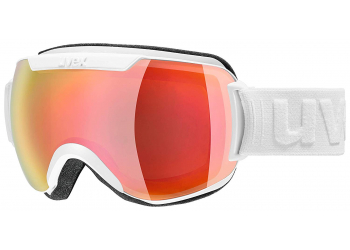 Uvex downhill 2000 Fm white m dl/red-lgl Skibrille