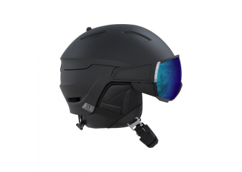 Salomon Helm Driver all black/solar Skihelm 56-59cm