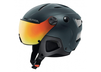 Alpina Attelas Visor QVmm nightblue matt Skihelm