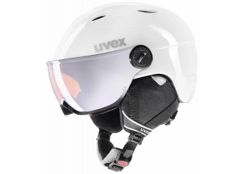 Uvex jun.vis.pro white-red mat Kinder Skihelm 52-54 cm