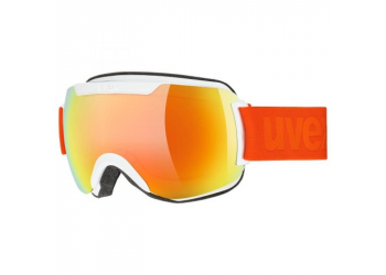 Uvex downhill 2000 CV Skibrille white S/L orange-green