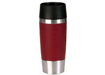 EMSA TRAVEL MUG 0,36 L Manschette rot Thermobecher 513356